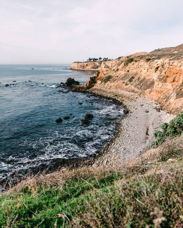 Print for Sale on Paige Gribb Photography - Palos Verdes Coastline in SoCal, pacific ocean on an overcast day